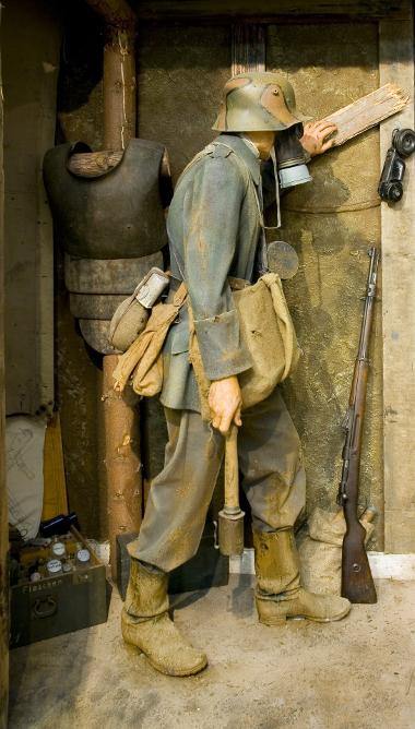 Foto: Figurine eines Deutschen Infanteristen an der Westfront