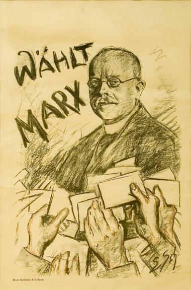 Wahlplakat: Wilhelm Marx