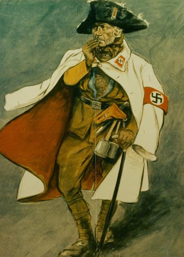Plakat: SA-Mann hinter der Maske Friedrichs des Großen