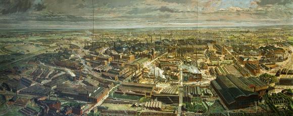 Lithographie: Gußstahlfabrik Krupp