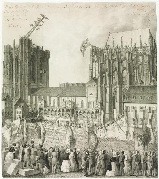 Feier der Grundsteinlegung Kölner Dom