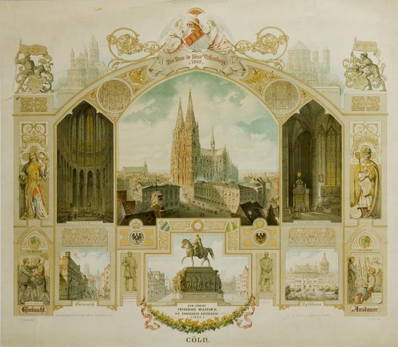 Prunkmappe zur Vollendung des Kölner Doms