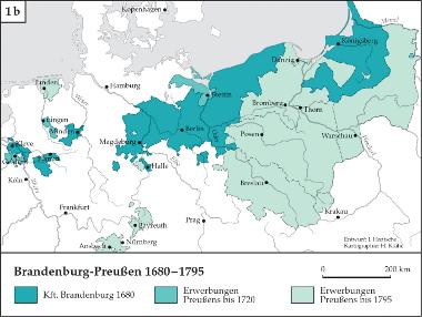 Karte: Entwicklung Brandenburg-Preußen 1680-1795