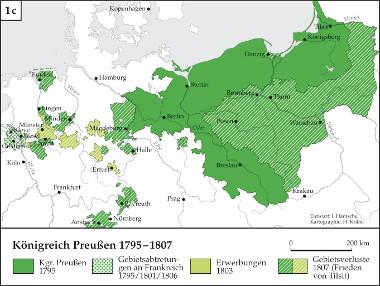 Karte: Entwicklung Königreich Preußen 1795-1807